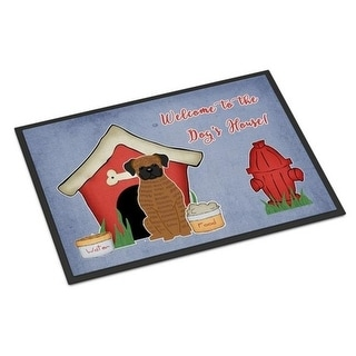 Carolines Treasures BB2871MAT Dog House Collection Brindle Boxer Indoor or Outdoor Mat 18 x 0.25 x 27 in.