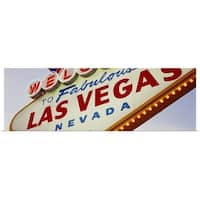 Poster Print entitled Close-up of a welcome sign, Las Vegas, Nevada - Multi-color