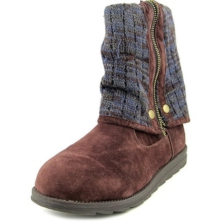 Muk Luks Demi Button Down/Sde   Round Toe Synthetic  Winter Boot
