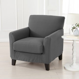 Link to Great Bay Home Popcorn Textured Stretch Chair Slipcover Similar Items in Slipcovers & Furniture Covers