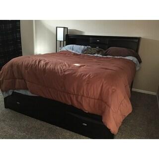 Linda King-size Black Storage Bed