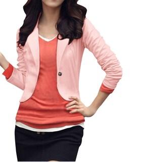 Ladies Long Sleeves One Button Autumn Blazer