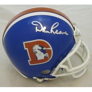 Dan Reeves Autographed Denver Broncos Mini Helmet