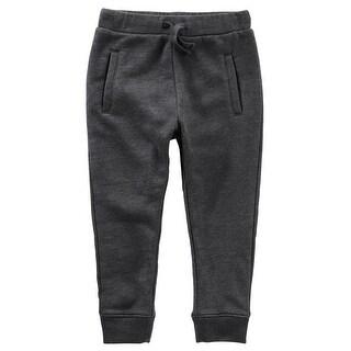 OshKosh B'gosh Baby Boys' Heathered Fleece Joggers - gray