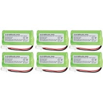 Replacement AT&T BT183342 Battery for CL80131 / EL50003 Phone Models (6 Pack)