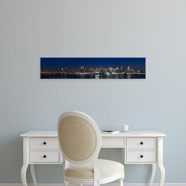 Easy Art Prints Panoramic Images's 'Hudson River, Midtown Manhattan, Manhattan, New York City' Canvas Art