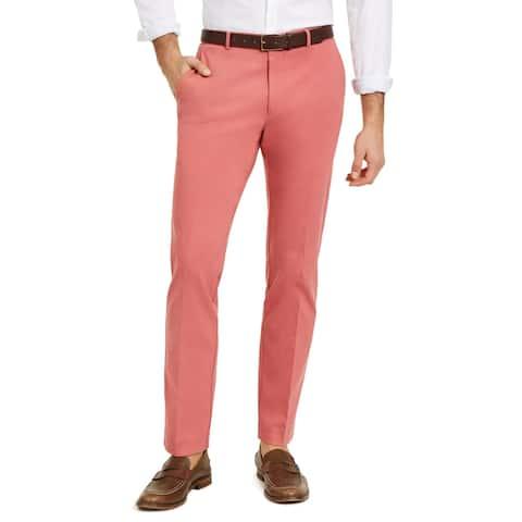 Tommy Hilfiger Mens Tate Dress Pants Woven Flex - Salmon