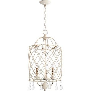 """Quorum International 6944-3 Venice 14"""" Wide 3 Light Pendant with Crystal Accents"""
