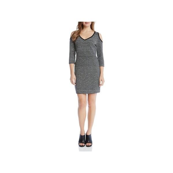a7f63059039 Shop Karen Kane Womens T-Shirt Dress Cold Shoulder Striped - XL ...