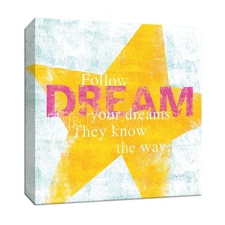 "PTM Images 9-152263  PTM Canvas Collection 12"" x 12"" - ""Letterpress Dream"" Giclee Sayings & Quotes Art Print on Canvas"