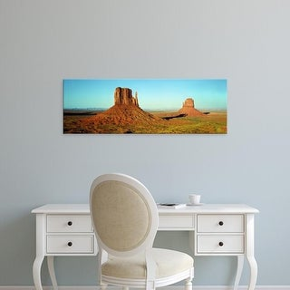 Easy Art Prints Panoramic Images's 'Landscape, The Mittens, Monument Valley Tribal Park, Arizona' Canvas Art