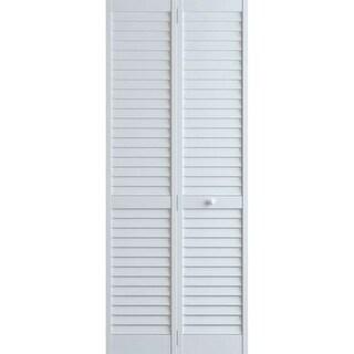 Frameport PLA-BI-NL-8X2-H Plantation 24 Inch by 96 Inch Louver/Louver Bi-Fold Do