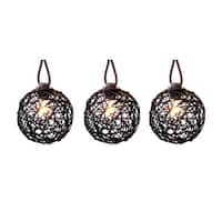 Living Accents 62AG611N Living Accent  C7 Ratton Ball Light Set, Clear, 10 lights