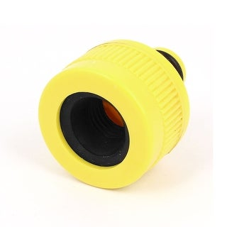 Unique Bargains Plastic Garden 9mm Thread Spray Hose Nozzle Adapter Connector Yellow