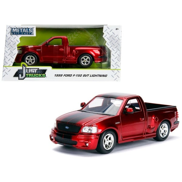 Shop  Ford F  Svt Lightning Pickup Truck Candy Red With Black Stripes Just Trucks Series  Cast Model Car By Jada Free Shipping On Orders