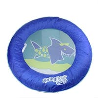 """32"""" Blue, Aqua and Lime Green Tropical Shark Inflatable Swimming Pool Spring Float Kids Boat - Blue"""