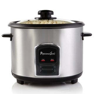 Link to Continental Electric Professional Series 12-Cup Rice Cooker Stainless Similar Items in Kitchen Appliances