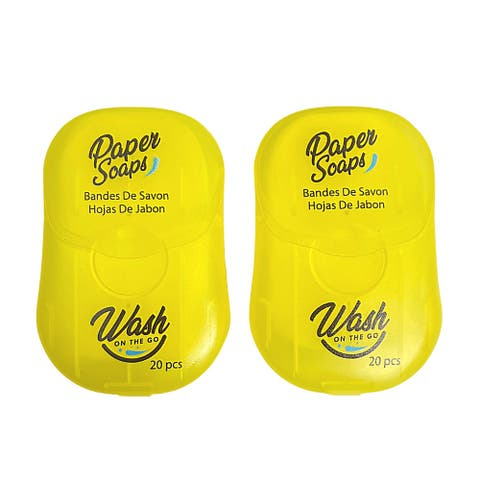 Wash on the Go Paper Soap Unisex 2 Pack - Citrus