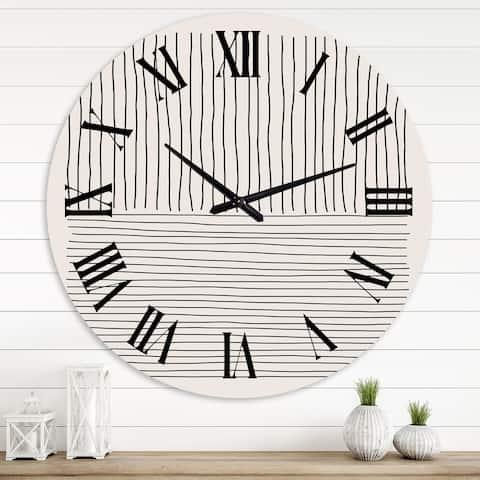 Designart 'Minimal Geometric Lines III' Modern wall clock