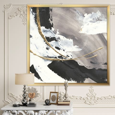 Designart 'Glam Painted Arcs II' Transitional Framed Art Print