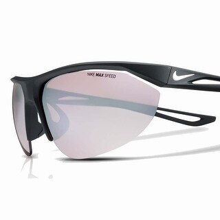 Nike Mens Tailwind Swift Matte Black Speed Tint White Mirror Lens Sunglasses