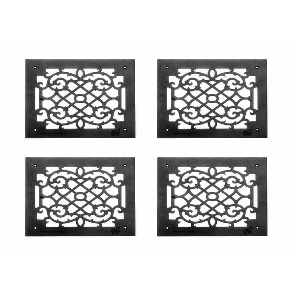 4 Heat  Air Grille Cast Victorian Overall 12 x 14