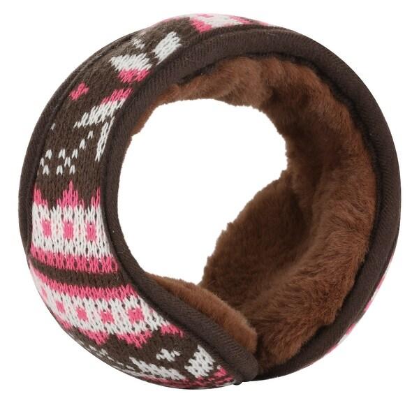Warm Foldable Winter Knit Earmuffs for Women Men Coffee
