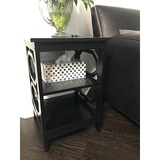 Convenience Concepts Omega Wood End Table Free Shipping