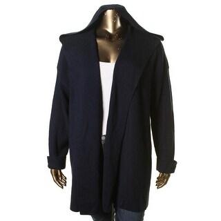 Lauren Ralph Lauren Womens Wool Hooded Cardigan Sweater