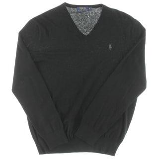 Polo Ralph Lauren Mens T-Shirt Ribbed Knit Signature