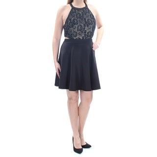 SPEECHLESS $59 Womens 1397 Black Floral Lace Cut Out Dress 13 Juniors B+B