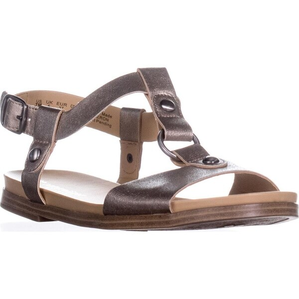 naturalizer Kameron Flat Comfort Sandals, Nickel - 7 us / 37 eu