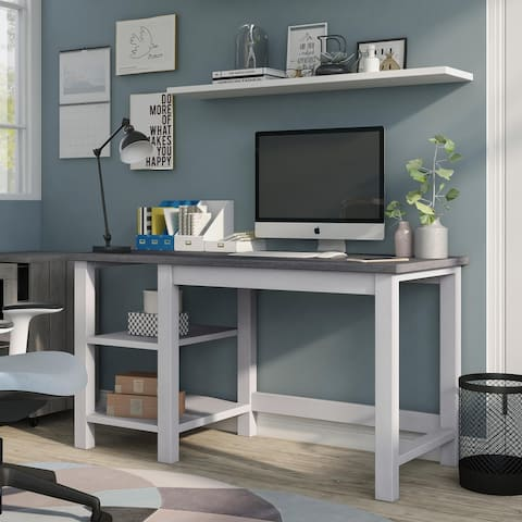 Furniture of America Chuck Two-toned Modern Farmhouse Desk