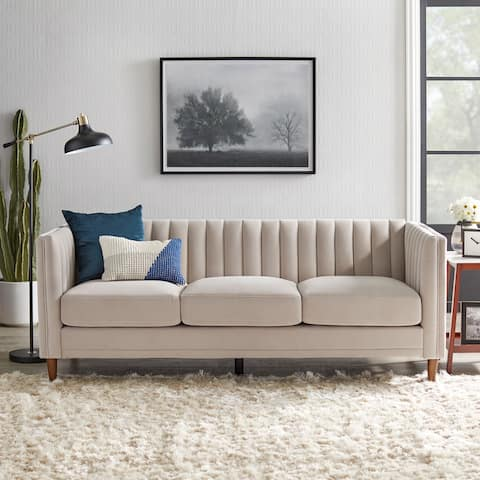 Lifestorey Paxton Channel Back Tuxedo Sofa