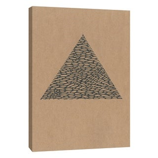 """PTM Images 9-105567  PTM Canvas Collection 10"""" x 8"""" - """"Contemporary Collage No.14"""" Giclee Triangles Art Print on Canvas"""