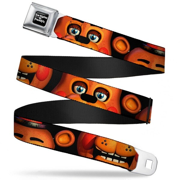 Five Nights At Freddy's Logo Weathered Full Color Black White Toy Freddy's Seatbelt Belt