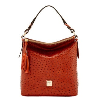 Dooney & Bourke Ostrich Small Sloan (Introduced by Dooney & Bourke at $288 in Jul 2016) - Cognac