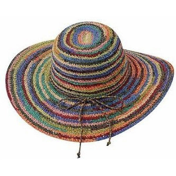 Shop Peter Grimm s Experience Multicolored Wide Brim Sun Hat - Free  Shipping On Orders Over  45 - Overstock.com - 22809484 39089435d11