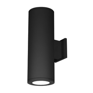 """WAC Lighting DS-WD08-F930B 8"""" Diameter LED Dimming Outdoor Double Wall Sconce 3000K, 90 CRI Shines Toward Wall"""