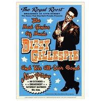 ''Dizzy Gillespie: Royal Roost NYC, 1948'' by Anon Concert Posters Art Print (24 x 17 in.)