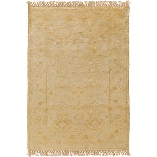 Hand-Knotted Darnell Floral New Zealand Wool Area Rug