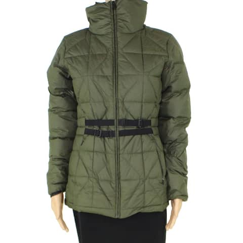 The North Face Womens Belted Mera Peak Jacket Olive Green M Quilted