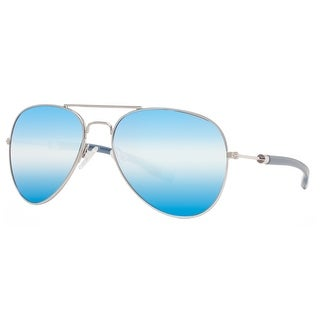Kenneth Cole Reaction KC1272 10X Men's Silver Blue Mirror Aviator Sunglasses - 58mm-17mm-140mm
