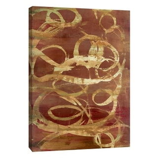 """PTM Images 9-105384  PTM Canvas Collection 10"""" x 8"""" - """"Copper Line 1"""" Giclee Abstract Art Print on Canvas"""