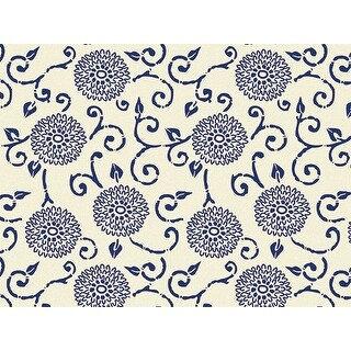 """Pack Of 240, Blue Indigo Rhapsody Recycled Classic Printed Tissue Paper 20"""" X 30"""" Sheets Made In Usa"""