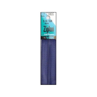"YKK Ziplon Coil Zipper 9"" Royal"
