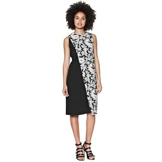 French Connection Paisley Party Crepe Sleeveless Shift Cocktail Day Dress