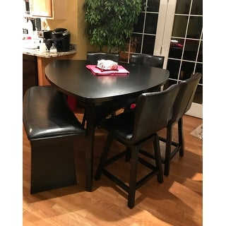 Furniture Of America Karille Modern 6 Piece Black Counter Height Dining Set