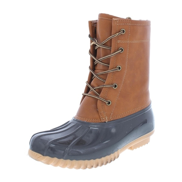 cf40ca16d42 The Original Duck Boot Womens Arianna Rain Boots Faux Leather Colorblock