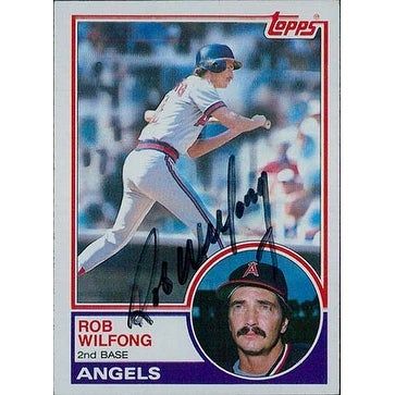 Signed Wilfong Rob California Angels 1983 Topps Baseball Card Autographed